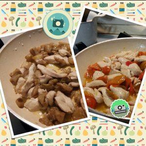 Straccetti di pollo con le verdure